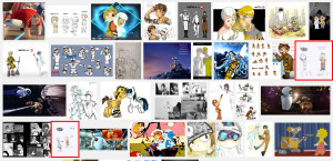Wall-E-and Eve as Humans search results